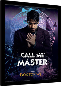 Framed poster Doctor Who - Call Me Master