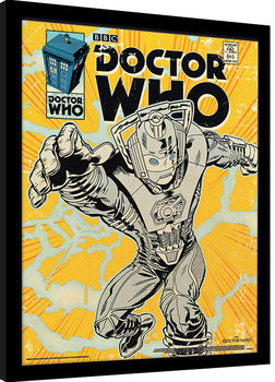 Framed poster Doctor Who - Cyberman Comic