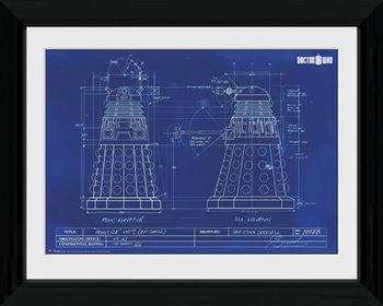Doctor Who - Dalek Blueprint plastic frame