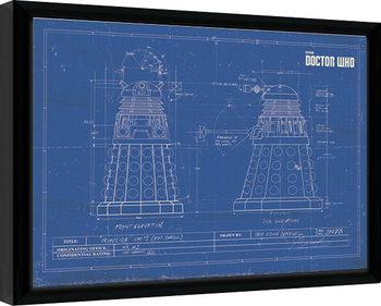 Doctor Who - Dalek Blueprint Framed poster