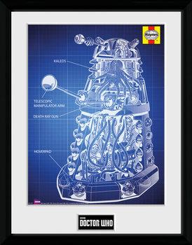 Doctor Who - Haynes Dalek Blueprint plastic frame