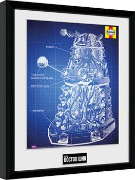 Doctor Who - Haynes Dalek Blueprint Framed poster