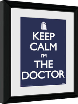 Doctor Who - Keep Calm Framed poster