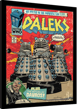 Doctor Who - The Daleks Comic Framed poster