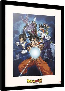 Framed poster Dragon Ball - Kamehameha