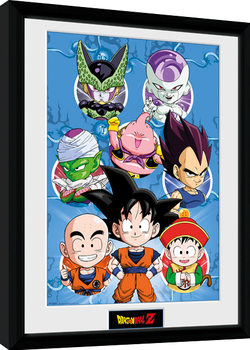 Framed poster Dragon Ball Z - Chibi Heroes