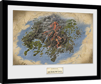Elder Scrolls Online Morrowind - Map Framed poster
