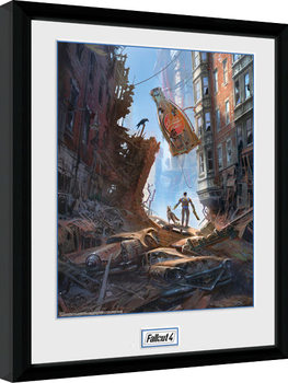 Fallout 4 - Street Scene Framed poster