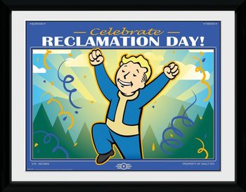 Framed poster Fallout 76 - Reclamation Day
