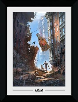 Fallout 76 - Vault Boys Framed poster