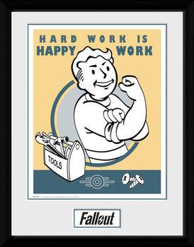 Fallout - Hard Work plastic frame