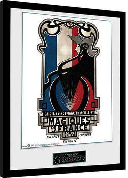Framed poster Fantastic Beasts 2 - Magiques de la France