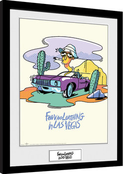 Framed poster Fear And Loathing In Las Vegas - Illustration