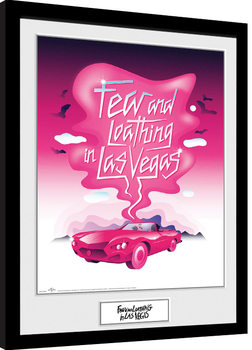 Fear And Loathing In Las Vegas - Pink Art Framed poster