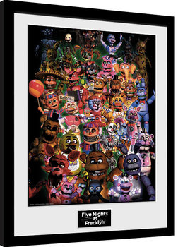 Framed poster Five Nights At Freddy's - Ultimate Group
