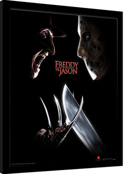 Freddy Vs Jason - Face Off Framed poster
