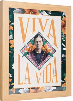Framed poster Frida Kahlo - Viva La Vida
