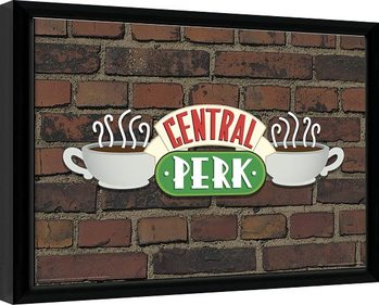 Friends - Central Perk Brick Framed poster