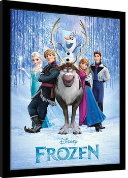 Framed poster Frozen - Cast