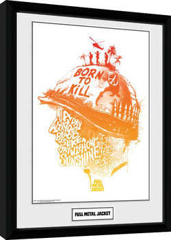 Full Metal Jacket - A Day Without Blood Framed poster