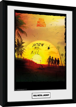 Full Metal Jacket - Born To Kill Framed poster
