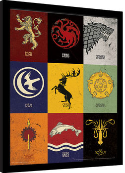 Game of Thrones - Sigils Framed poster