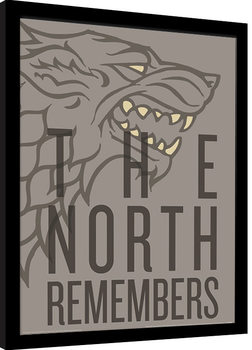 Framed poster Game of Thrones - The North Remembers