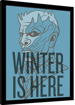 Framed poster Game of Thrones - Winter Is Here