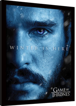 Game Of Thrones - Winter is Here - Jon Framed poster