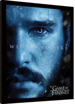 Game Of Thrones - Winter is Here - Jon Framed poster