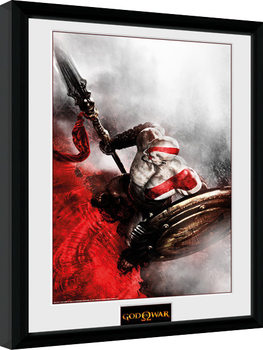 God of War - Kratos Sparta Wing Framed poster