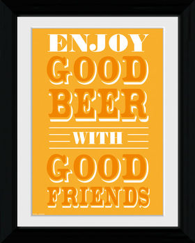 Good Beer - Good Friends Framed poster