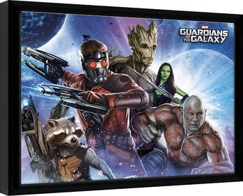 Framed poster Guardians Of The Galaxy - Team