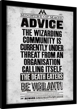 Harry Potter - Be Vigilant Framed poster