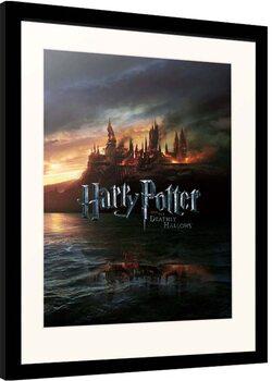 Framed poster Harry Potter - Burning Hogwarts