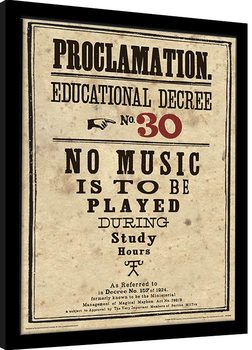 Framed poster Harry Potter - Educational Decree No. 30