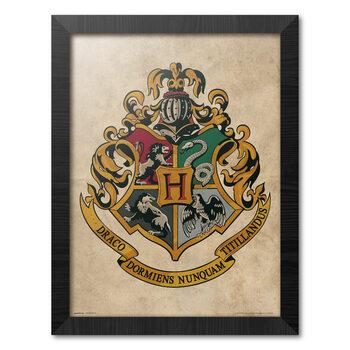 Framed poster Harry Potter - Hogwarts Chrest