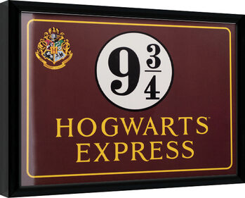 Framed poster Harry Potter - Hogwarts Express