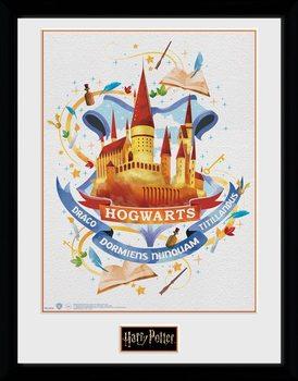 Harry Potter - Hogwarts Paint Framed poster