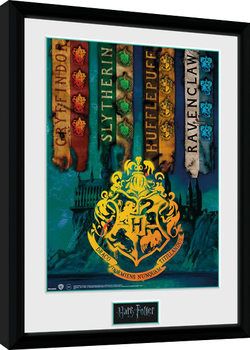 Harry Potter - House Flags Framed poster