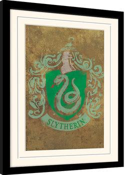 Framed poster Harry Potter - Slytherin Crest
