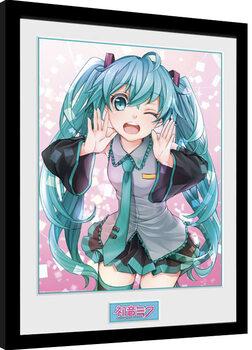 Hatsune Miku - Wink Framed poster