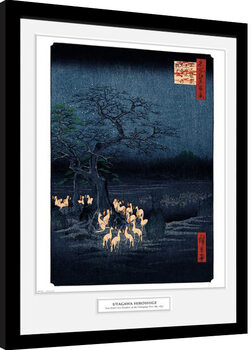 Hiroshige - New Years Eve Foxfire Framed poster