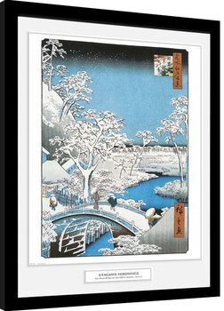 Hiroshige - The Drum Bridge Framed poster