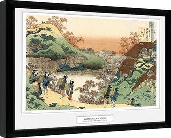 Framed poster Hokusai - Women Returning Home