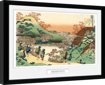 Hokusai - Women Returning Home Framed poster