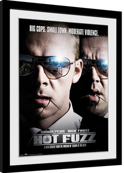 Hot Fuzz - Close Up Framed poster