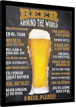 Framed poster How To Order a Beer