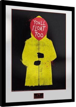 Framed poster IT - Yellow Mac