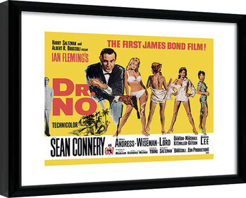 Framed poster James Bond - Doctor No Yellow